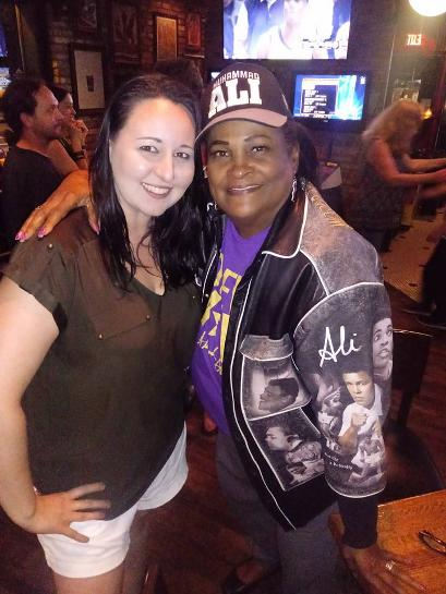 Khalilah Camacho-Ali with Jennifer Welsh the owner of The Truck Stop Restaurant in Orlando, FL